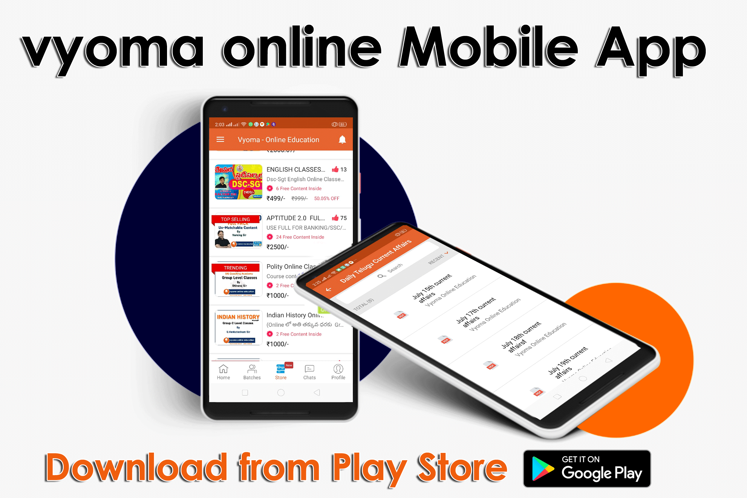 Vyoma mobile app